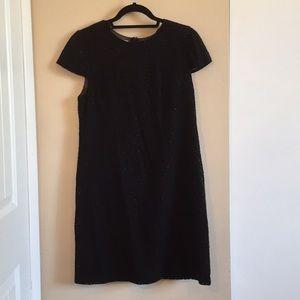 Suzi Chin Black Cap Sleeve Dress